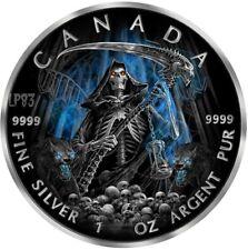 2017 1 Oz Silver APOCALYPSE GRIM REAPER Coin WITH 24K BLACK  RUTHENIUM. PRE SALE