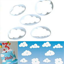 5PC Cloud Plastic Fondant Cookie Cutter Cake Mold Moulds Cake Decorating Tool HK