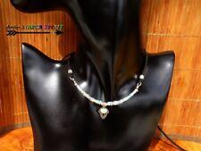 Collier réglable -Bijou de Créateur-Masque Ethnique Argent 925-Opales Australie