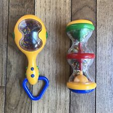 Lot of 2 Tolo Baby Infant Developmental Toys Shake Rattle & Roll and Maraca