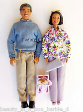 Grandpa Grandma Happy Family Barbie Ken Doll African American AA Eyeglasses Toy