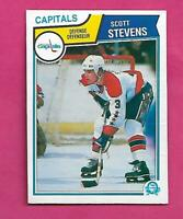 1983-84 OPC # 376 CAPITALS SCOTT STEVENS ROOKIE GOOD CARD (INV# D1355)