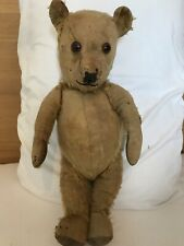 Vintage Antique Teddy Bear 15.5in Tall Kapok Filled Body