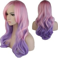 Long Wigs With Bangs Ladies Girls Anime Costume Cosplay Curly Wave Full Wig TG7
