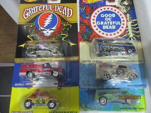 HOTWHEELS RARE THE GRATEFUL DEAD SET OF 6 CARS  ALLOYS RUBBER TYRE``