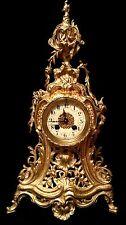BEAUTIFUL AD MOUGIN FRENCH ANTIQUE GILT BRONZE CLOCK C.19TH