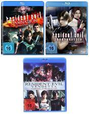 3 Blu-ray * RESIDENT EVIL DAMNATION / DEGENERATION / VENDETTA ~FSK 18 # NEU OVP<