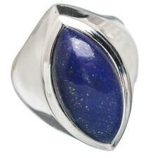ECHTER LAPIS LAZULI  RING **23x10mm** Gr17 925 Silber