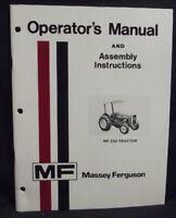 MASSEY FERGUSON  MF 230 Tractor Operators Manual ORIGINAL, paper, 1979 1448357M5