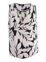 Nine West Women's Printed Sleeveless Top XL, Dessert/Black