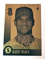 Albert Pujols 2003 Autographed Hologram Signature 23KT GOLD CARD! CARDINALS!!