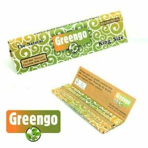 Greengo KING SIZE Rolling Papers Natural Unbleached Organic Chlorine Free
