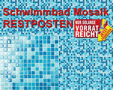 Poolmosaik Schwimmbadmosaik blau hellblau Mosaikfliese 52-0402_Papier Restposten