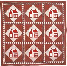 LITTLE RED SCHOOLHOUSE -  PATCHWORK & STRIP VINTAGE QUILT PATTERN