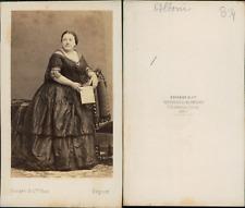 Disdéri, Paris, Marietta Alboni CDV vintage albumen.Maria Anna Marzia Alboni,