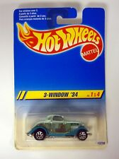 Hot Wheels 3-window '34 1/4 die-cast coche MOC COMPLETO 1994