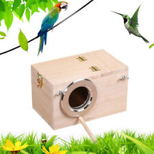 Creative Wooden Parrot Small Bird Breeding Nest Box Nesting  House For Lovebird