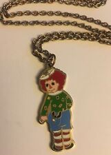 Vintage Enameled Goldtone Raggety Andy Pendent and 24� Necklace