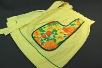Vintage Ladies Half Cotton Yellow Apron