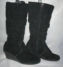 New Look Patternless Zip Suede Boots for Women