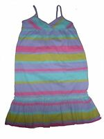 H & M tolles Kleid Gr. 98 / 104 lila-rosa-gelb-mint gestreift !!