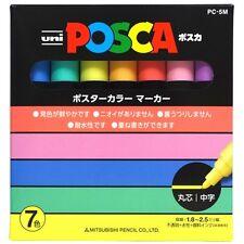 Uni POSCA PC5M7C Marker Pen Pastel 7color Set Mitsubishi New Japan