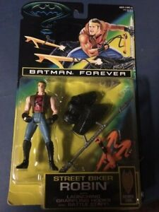 NIB Batman Forever STREET BIKER ROBIN Action Figure Kenner 1995