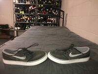 Nike SB Stefan Janoski Boys Youth Athletic Skate Shoes Size 7Y Gray