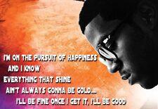 Rapper Art Poster Kid Cudi Pursuit of Happiness  Print