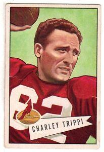 1952 Bowman Football Card #12 Charley Trippi  Georgia / Chicago Cardinals ~ VG+