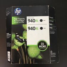 HP 940XL Black Twin pack Ink Cartridges High Impact