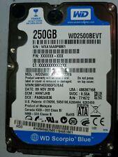 """Western Digital Scorpio Blue 250GB Internal 5400RPM 2.5"""" (WD2500BEVS) HDD"""