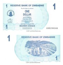 Zimbabwe 1 Dollar 2006 P-37 Banknotes aUNC About Uncirculated