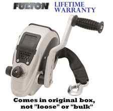"FULTON F2 TRAILER WINCH 2,000 lb W/ 20' X 2"" STRAP & HOOK ADJUSTABLE HANDLE BOAT"