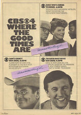 1971 LARGE 3 SHOWS TV GUIDE AD CLIPPINGS CADE'S COUNTY, THE DAVID FROST REVUE +