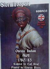 Stormtroopers Oneida Indian 1780/83 unpainted resin bust kit 1/9th CARL REID