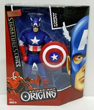 Spider-Man Origins Signature Series Captain America 8 inch Hasbro NIP S134-6