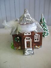 Early Dept 56 School House Original Snow Village Lighted With flag