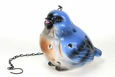 Ceramic Blue Bird Garden Lantern New Item Bird Feeder Hanging Planter