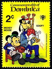 Dominica postfrisch MNH Disney Goofy Mickey Geige Dudelsack Musik Zeichentrick/3