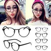 Vintage Clear Lens Eyeglasses Frame Retro Round Men Women Unisex Nerd Glasses FS