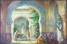 """Ancien Tableau """"Mosquée"""" Peinture Huile Antique Oil Painting"""