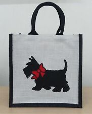 Eco-friendly Jute shopper bag - Single Scottie(Medium)