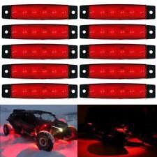 10 Pods LED Rock Lights Underbody RED Light For Jeep Offroad Truck UTV ATV Boat