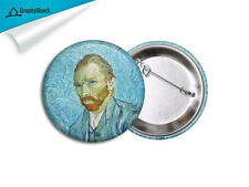 Van Gogh Self Portrait Pinback Badge BIG 2 1/4 inch Button Pins Painting Badge