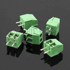 5 x 2 Pin 3.5mm 2 way straight pin PCB Universal Screw Terminal Block Connector