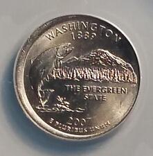 2007-P Washington 25c Mint Error Broadstruck ANACS MS-65