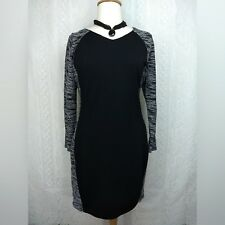 Old Navy Sweater Dress Plus Size 1X Black White Marble Bodycon Long Sleeve