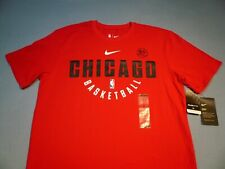 Nike Chicago Bulls Basketball Practice BRAND NEW shirt NBA athletic cut dri fit