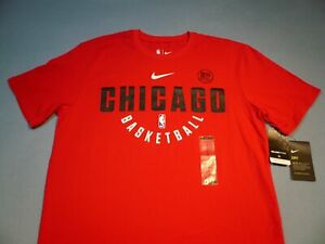 Nike Chicago Bulls Basketball Practice BRAND NEW shirt NBA athletic cut dri fit